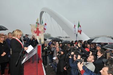 Alessandria 23/10/2016 inaugurazione del ponte meier,Sindaco Rita Rosso